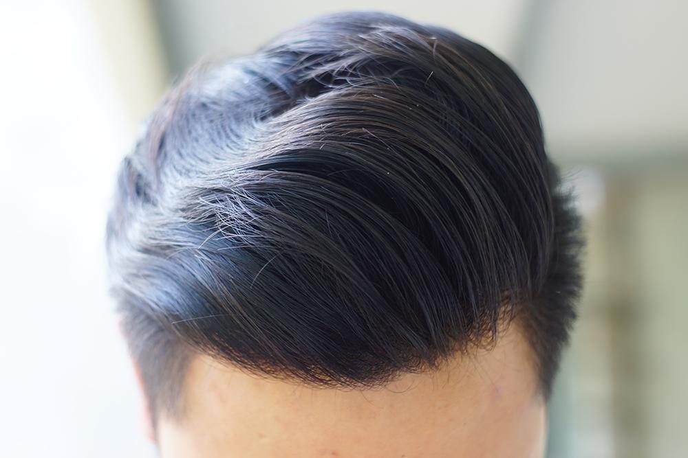Phần tóc chính có sự mượt mà, bồng bềnh và tự nhiên hơn hẳn so với khi vừa vuốt.