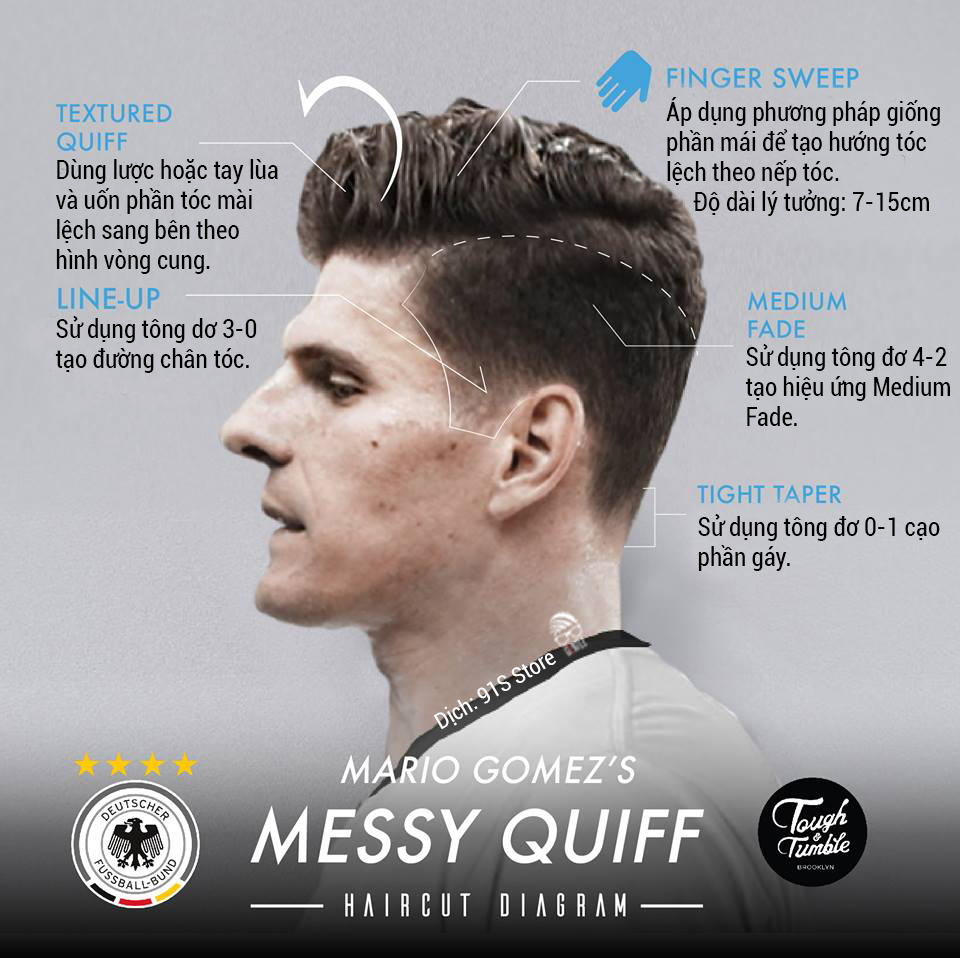 Mario Gomez - Messy Quiff - The 91S